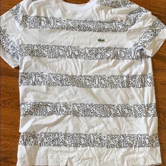 Lacoste Mens Keith Haring Big Logo Tee